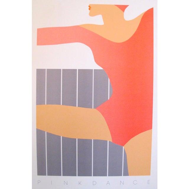 1983 Vintage Pink Dance Poster - Image 2 of 2