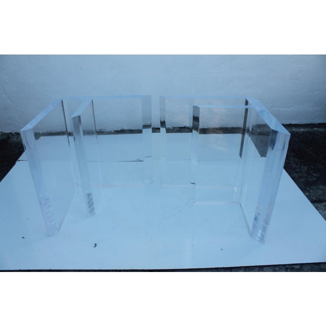 Sculptural Lucite & Glass Dining Table - Image 6 of 11