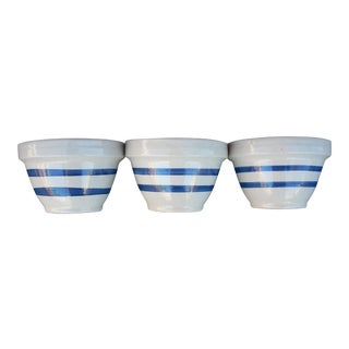 Striped Traditional Mixing Bowls - Set of 3