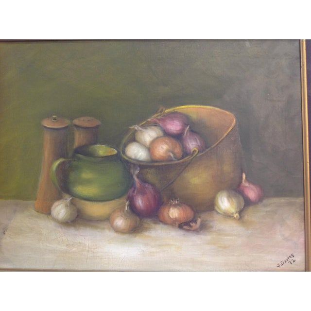 Still Life Oil Painting on Canvas - Image 5 of 7