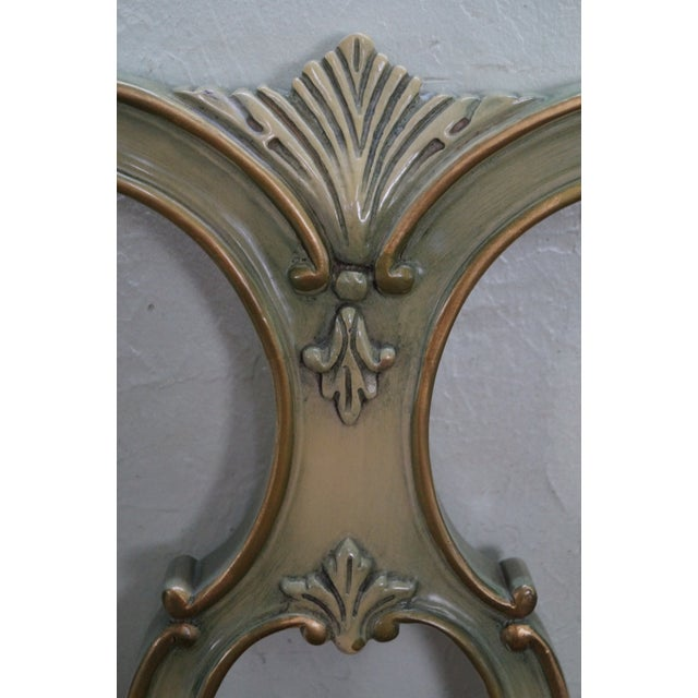 Vintage French Louis XV Style Queen Size Headboard - Image 5 of 10
