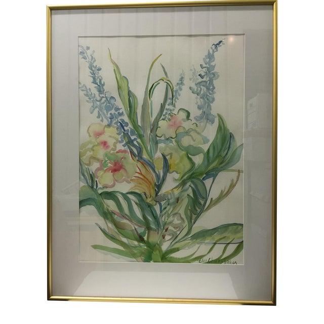 Ellen Friel Watercolor Painting in Gold Frame - Image 1 of 3