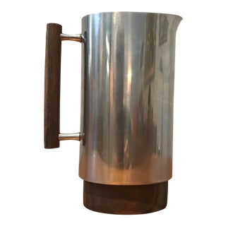 Vintage Danish Stainless Steel Water Pitcher