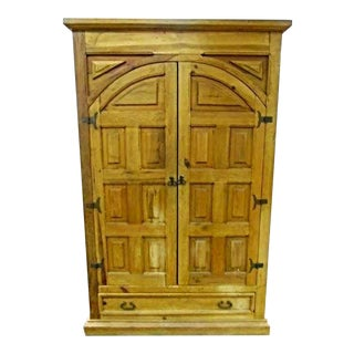 Antique Iron Hardware & Pine Armoire