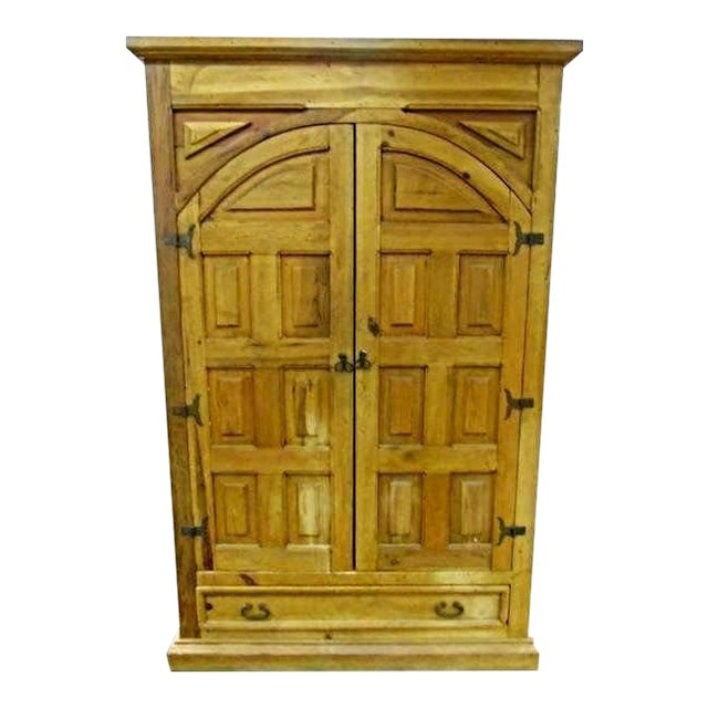 Image of Antique Iron Hardware & Pine Armoire