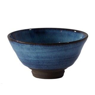 Japanese Blue Handcrafted Ceramic Bowl