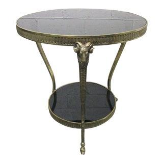 Maison Jansen Style Brass Ram's Head Gueridon or Side Table