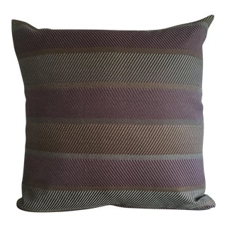 Purple & Gray Stripe Pillow Cover