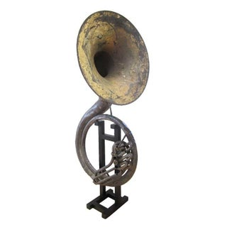 Antique Sousaphone on Stand