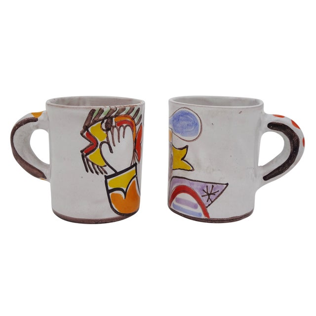 Ceramic Desimone Mugs - Pair - Image 4 of 7