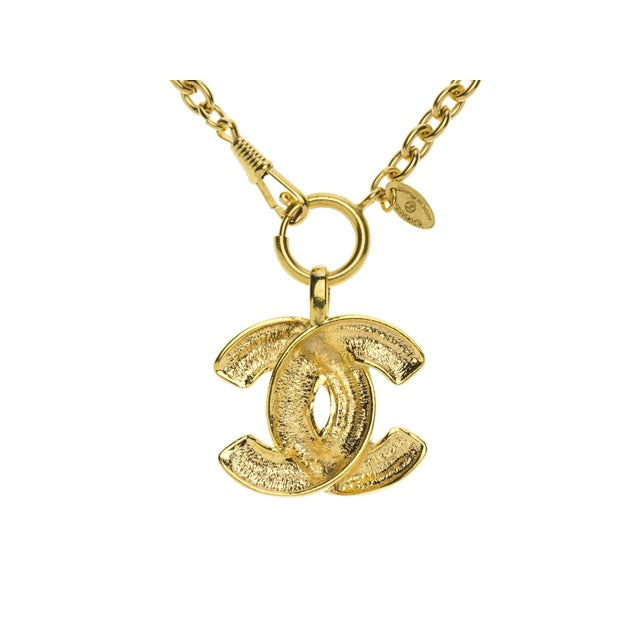 Image of Chanel Vintage Logo Necklace