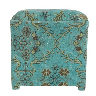 Turkish Rug Upholstered Stool