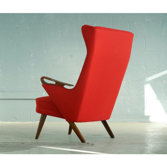 Svend Skipper Attributed 1950s Papa Bear Style Lounge Chair - Image 5 of 8