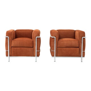 Set of Le Corbusier Lc2 Armchairs