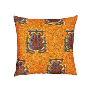 Floor Pillows African Dutch Wax Fabric - a Pair