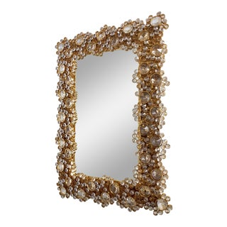 1970's Illuminated Crystal Mirror by Palwa