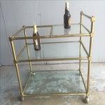 Image of Vintage Mid Century Brass Bar Cart