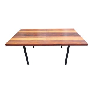 Milo Baughman For Dillingham Mixed Multi Wood Dining Table