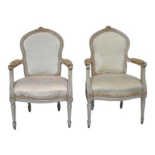 Pair of Armchairs in the Gustavian Style (#94-38)
