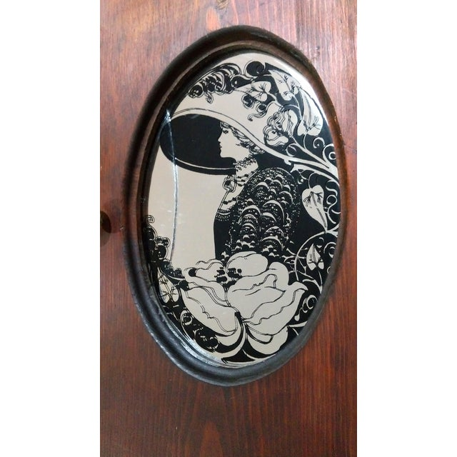 "Antique ""Fair Lady"" Mirrored Medicine Cabinet - Image 4 of 8"