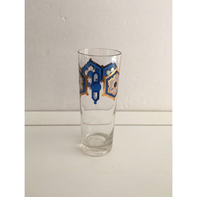 Blue & Gold Foil Highball Glasses - Set of 4 - Image 3 of 5