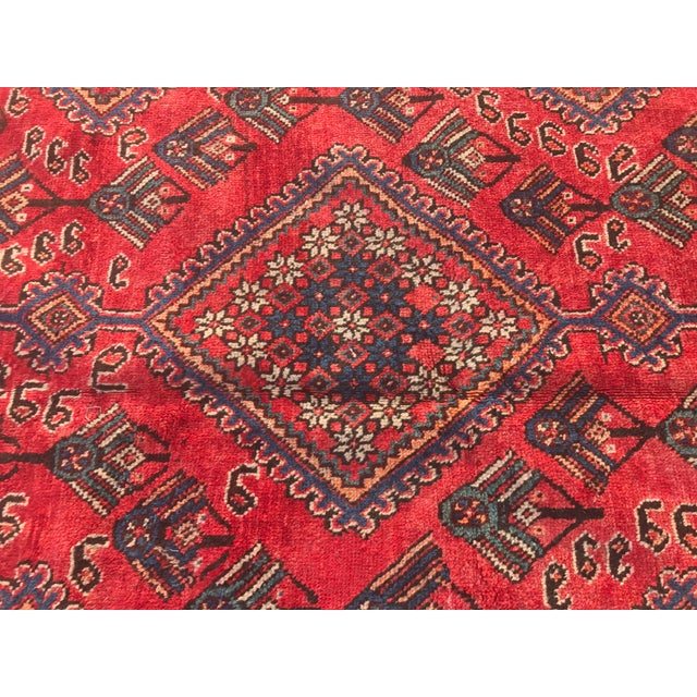 "Vintage Persian Yalameh Area Rug - 7'8"" x 9'7"" - Image 4 of 11"