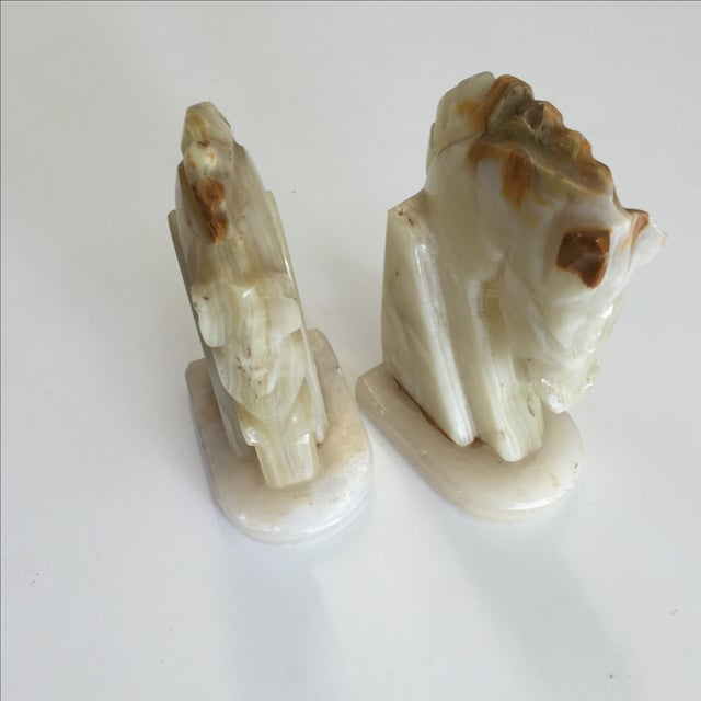 Marble Horse Bookends - A Pair - Image 3 of 5