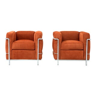 Set of LC2 Petite Modele Armchairs