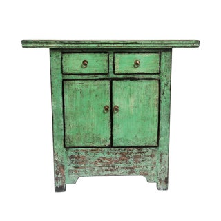Green Entry Side Table