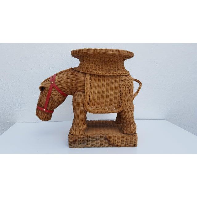 Vintage Horse Rattan Stool . - Image 2 of 10