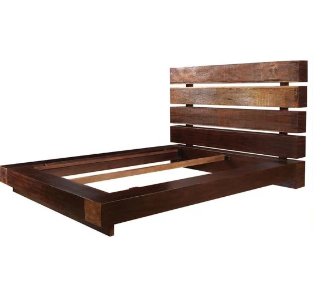 Reclaimed Queen Platform Bed By Four Hands   Image 1 Of 3