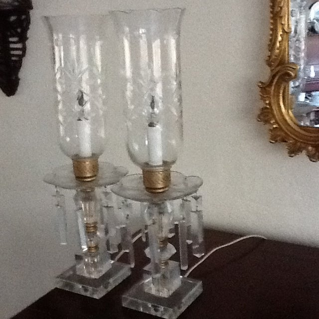 1960's Crystal Lamps - A Pair - Image 2 of 7