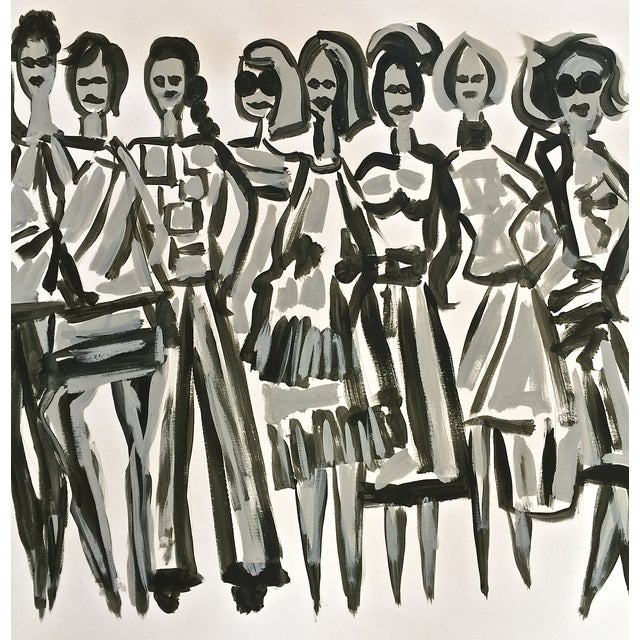 Original Fashion Illustration on Paper - Image 2 of 4