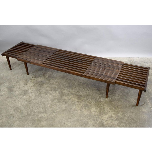 On Hold - John Keal for Brown Saltman Mid-Century Expandable Slat Bench or Table - Image 2 of 10