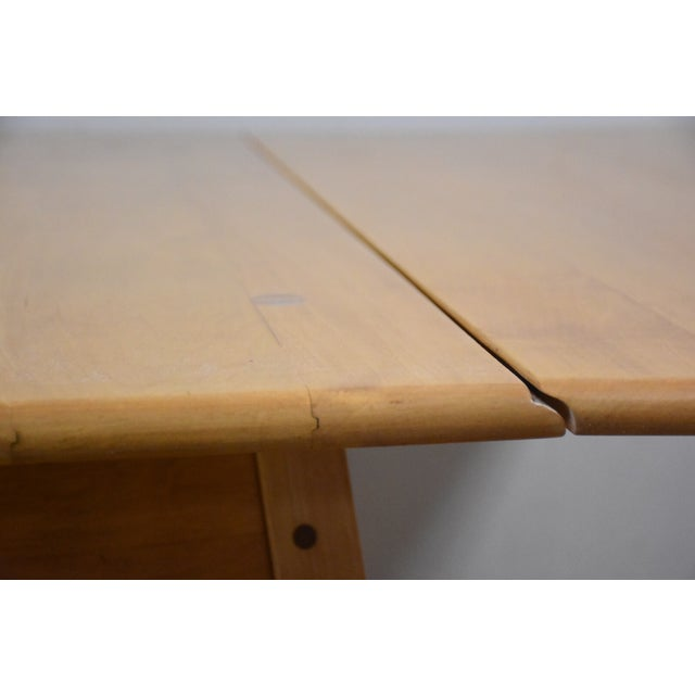 Mid-Century Maple Drop Leaf Dining Table - Image 5 of 11