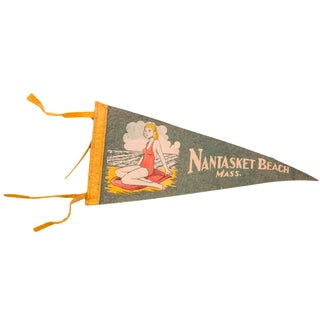 Nantasket Beach Massachusetts Felt Flag