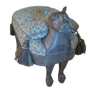 Maitland Smith Sphinx Leopard Ottoman