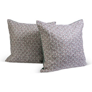 Graphic Pillows w/Teal Linen Backs - A Pair