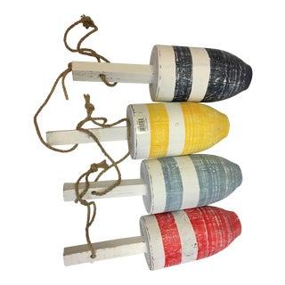 Nautical Wooden Buoys- Set of 4