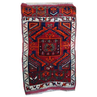 1890s Antique Turkish Yastik Rug - 2′ × 3′7″