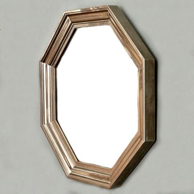French Art Deco Metallic Octagonal Mirror - Image 4 of 7