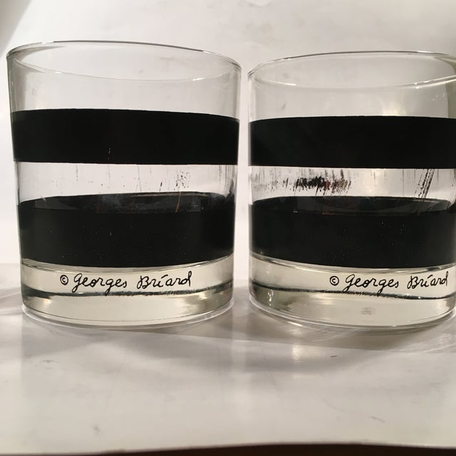 Georges Briard Signed Rocks Glasses - Set of 4 - Image 7 of 8