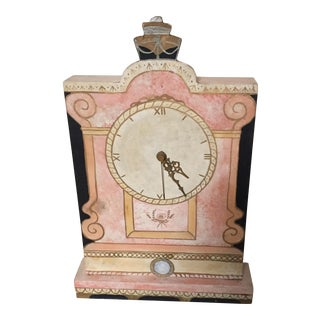 Antique Pink Wooden Clock