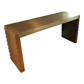 Dwell Studio Wrapped Gold Leaf Console Table