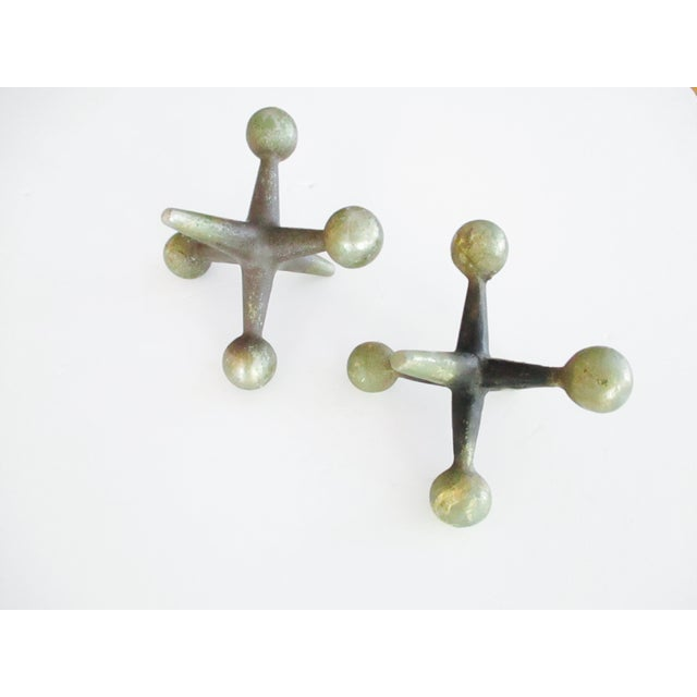 Cast Iron Jacks Bookends Bill Curry Mid Century - Image 11 of 11
