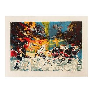 "Leroy Neiman ""Ice Men"" 1974 Hockey Serigraph"