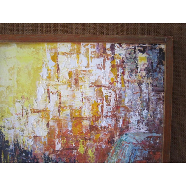 J. Mader Signed Mid Century Painting - Image 5 of 7