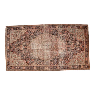 "Antique Farahan Sarouk Rug Runner - 7'2"" x 13'2"""