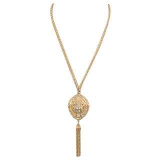 Vintage Lion Tassel Necklace