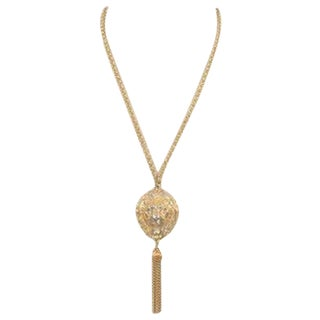 Vintage Lion Tassel Necklace